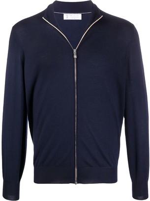 Brunello Cucinelli Fine Knit Zipped Jumper