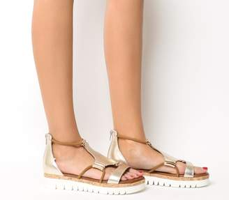 Inuovo Flat Sandals Gold