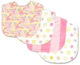 Trend Lab Dr. Seuss 4 Piece Bib Set, Oh! the Places You'll Go! Pink by