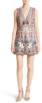 Alice + Olivia Women's Patty Embellished A-Line Dress