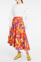 Rosie Assoulin Floral-Print Volume Midi Skirt