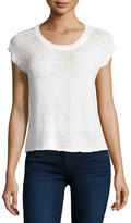 Bishop + Young Chunky-Knit Short-Sleeve Sweater, Cream