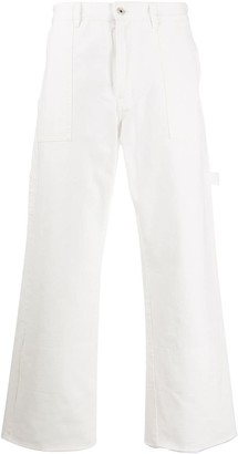 Loewe Cuffed-Hem Cropped Wide-Leg Trousers