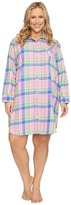 Lauren Ralph Lauren Plus Size Brushed Twill Sleepshirt