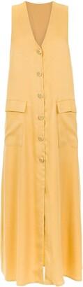 Adriana Degreas Buttoned Midi Dress