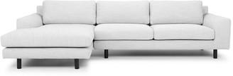Calibre Furniture Masters Modular Sofa Light Grey/black Leg Left Chaise