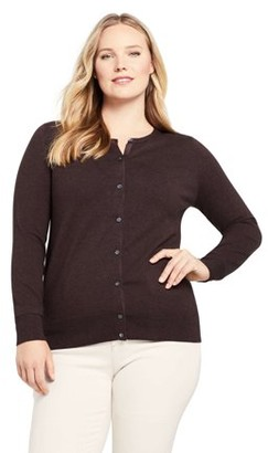 Lands' End Women's Plus Size Long Sleeve Supima Cotton Cardigan