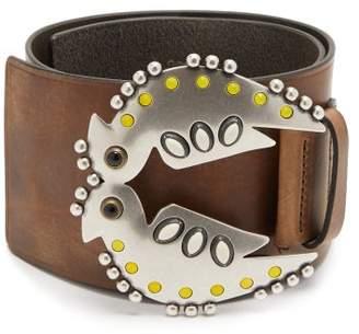 Isabel Marant Yona Studded Leather Belt - Womens - Khaki