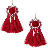 Fragments for Neiman Marcus Tassel Pompom Drop Earrings