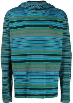 Acne Studios striped long-sleeved hoodie