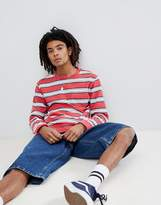 Brixton Hilt Washed Long Sleeve Striped T-Shirt With Pocket