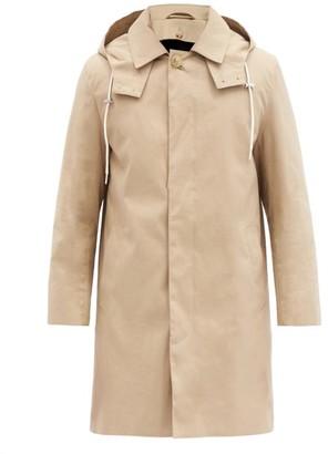 MACKINTOSH Dunoon Wool-lined Bonded-cotton Hooded Overcoat - Beige