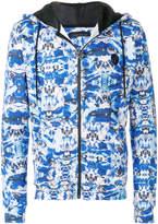 Frankie Morello printed zip hoodie