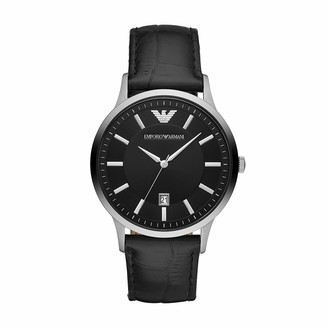 Emporio Armani Men's AR11186 Dress Black Leather Watch