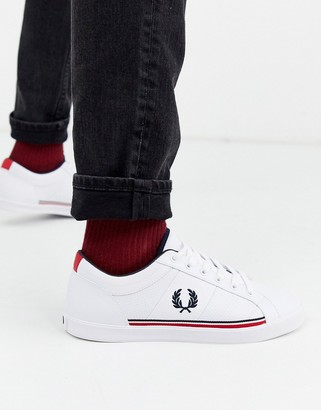 Fred Perry Baseline perforated sneakers in white
