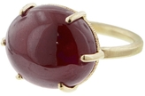 Jamie Joseph Oval Smooth African Ruby Ring - Yellow Gold