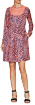 Manoush Laura Silk Printed Fit And Flare Dress