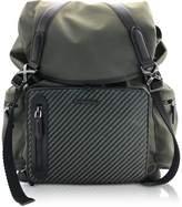 Ermenegildo Zegna Nylon and Leather Backpack