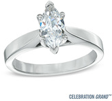 Zales Celebration Grand® 1 CT. Marquise Diamond Solitaire Engagement Ring in 14K White Gold (I-J/I1)