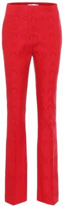 Marine Serre Jacquard wool-blend pants