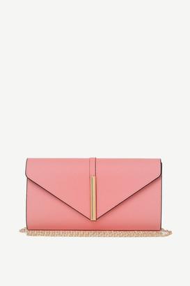 Ardene Faux Leather Envelope Clutch
