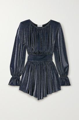 NERVI Betty Metallic Jersey Mini Dress - Blue