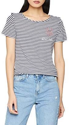 S'Oliver Women's .805.32.3067 T-Shirt, (Dark Steel Blue pl. Print 58D3)