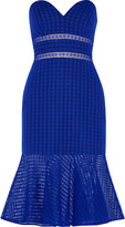 Self-Portrait Flared cotton-blend broderie anglaise dress