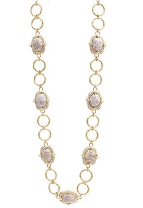 Armenta Sueno 18k Coral Cabochon and Diamond Necklace