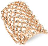 Michela Lattice Rose Goldtone Ring