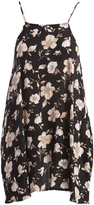 Mimichica Black Floral Strappy-Back Sidetail Dress