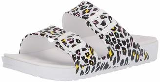 Skechers Women's Gear Cali Breeze Print Molded Double Strap with Luxe Foam Sandal