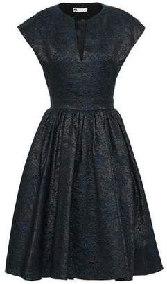Lanvin Flared Metallic Cloque Dress