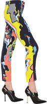 Versace Printed Cropped Viscose Cady Pants