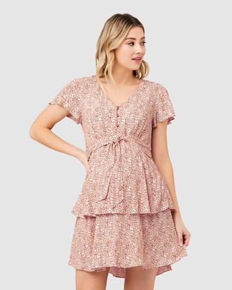 Ripe Maternity Women's Printed Dresses - Lulu Layered Dress - Size One Size, L at The Iconic