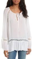 Alice + Olivia Women's Luma Bell Sleeve Silk Tunic