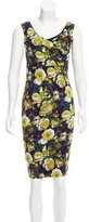 Fuzzi Floral Print Knee-Length Dress