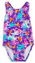 Speedo Girls Floral One Piece Swimsuit
