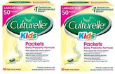 Culturelle Kids Packets Daily Probiotic Supplement lheora, 2Packs (50 Count)