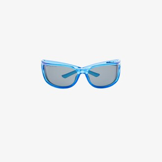 Balenciaga blue Fast rectangle sunglasses