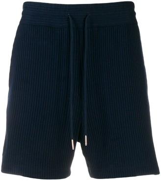 Thom Browne Seersucker Mid-Thigh Shorts