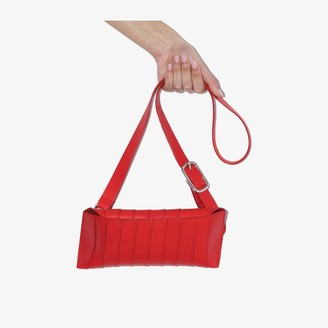 Venczel red V8S Stripe leather shoulder bag