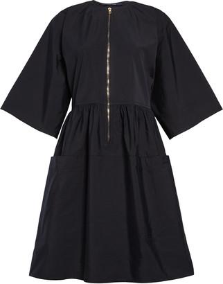 Sofie D'hoore Sophie D'Hoore Zip Front Cotton Taffeta Dress