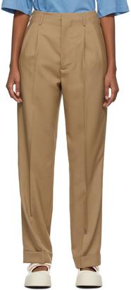 Marni Khaki Fresh Wool Trousers