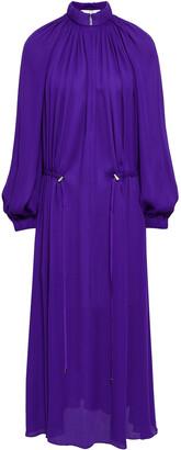 Tibi Gathered Crepe Midi Dress