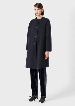 Giorgio Armani Two-Toned Coat With Front-And-Back Buttons