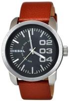 Diesel Black Dial Tan Leather Strap Men's Watch DZ1513