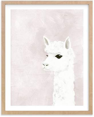 Pottery Barn Kids Alpaca Wall Art by Minted® 11x14, White