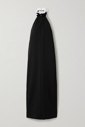 Philosophy di Lorenzo Serafini Ruffled Sequin-embellished Cady Halterneck Gown - Black