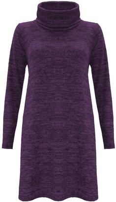 The Celebrity Fashion Women's Jumper Dress Uk Size 16-18 Wine-Fleece Soft Knit Knitted Knitwear Warm Date